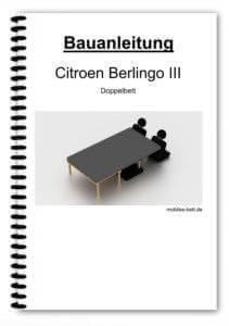 Bauanleitung - Citroen Berlingo III Doppelbett
