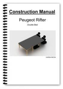Cover Peugeot Rifter Double Bed
